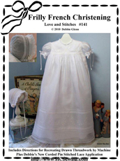 #141 Frilly French Christening Gown